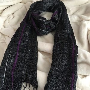 Black, purple and silver scarf !